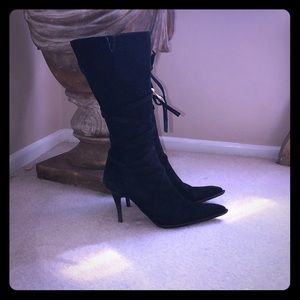 VERO COUGI MADE IN ITALY BLACK SUEDE BOOTS